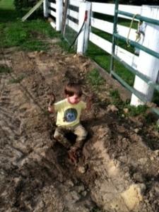 I'm muddy!